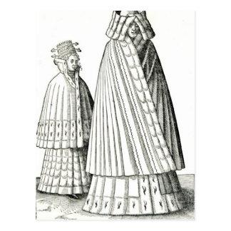 Trajes de una mujer noble de Livonian Tarjetas Postales
