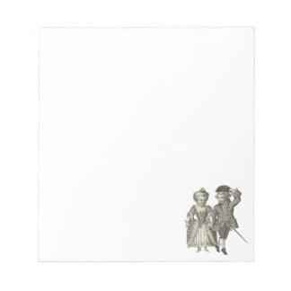 Trajes del vintage de Marie Antonieta Louis XVI Libreta Para Notas