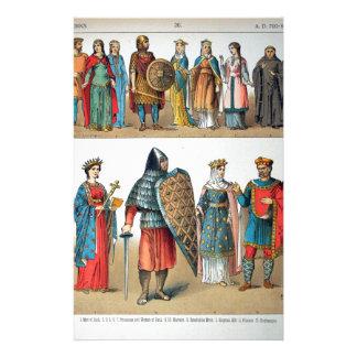Trajes medievales papeleria personalizada