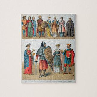 Trajes medievales puzzles