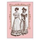 Trajes Parisiens 1821 modas del francés de la rege Tarjetas