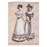 Trajes Parisiens 1821 modas del francés de la rege Tarjeta