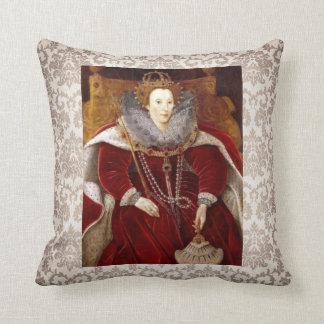 Trajes rojos de Elizabeth I Cojines