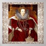 Trajes rojos de Elizabeth I Impresiones