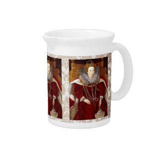 Trajes rojos de Elizabeth I Jarras De Beber