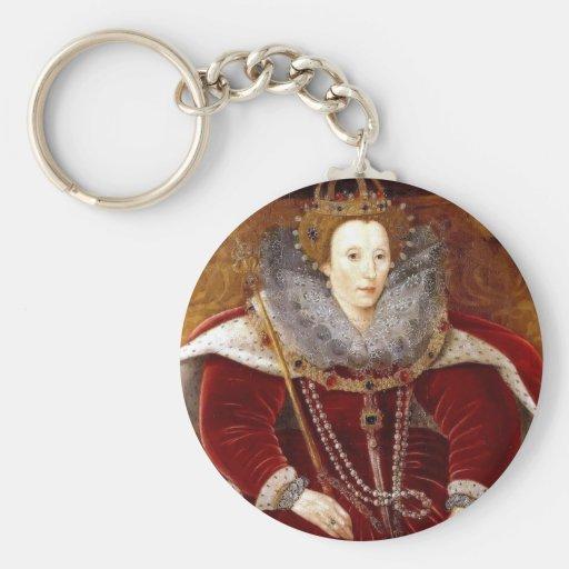 Trajes rojos de Elizabeth I Llavero