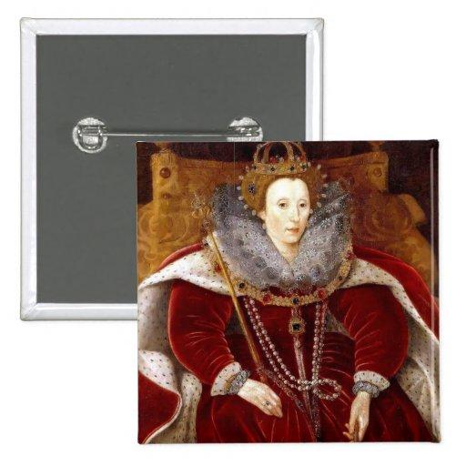 Trajes rojos de Elizabeth I Pin
