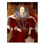 Trajes rojos de Elizabeth I Postal
