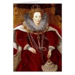 Trajes rojos de Elizabeth I Tarjeta De Felicitación