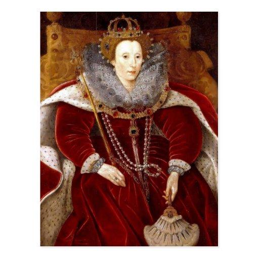 Trajes rojos de Elizabeth I Tarjetas Postales