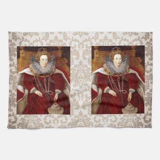 Trajes rojos de Elizabeth I Toallas