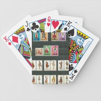 Trajes rumanos 2 de la gente baraja cartas de poker
