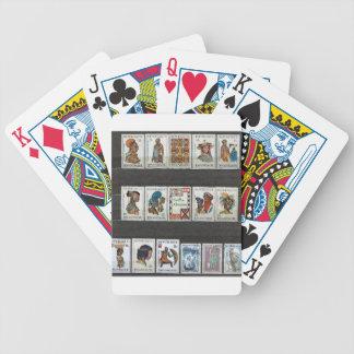 Trajes tribales africanos baraja de cartas