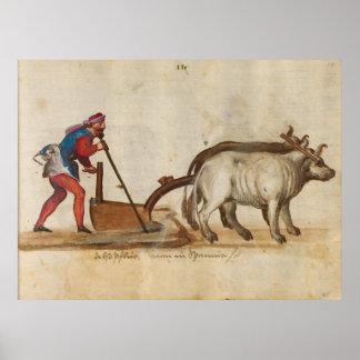 Trajes y aduanas (1560 - 1570) impresiones