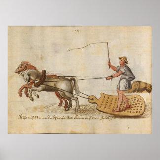 Trajes y aduanas (1560 - 1570) póster