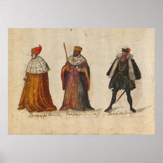 Trajes y aduanas (1560 - 1570) posters