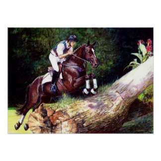 Trakehner Eventing Cross Country Horse Portrait Poster