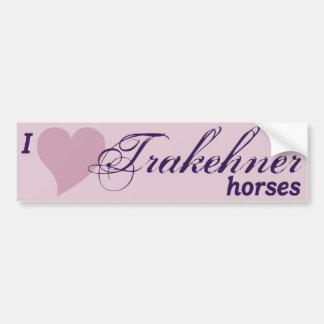 Trakehner horses bumper sticker