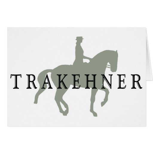 TRAKEHNER with Dressage Horse & Rider Greeting Card