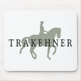 TRAKEHNER with Dressage Horse & Rider Mouse Pad