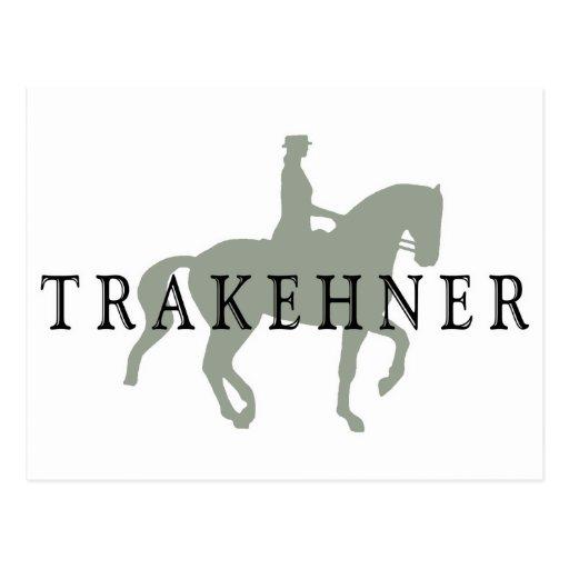 TRAKEHNER with Dressage Horse & Rider Postcard