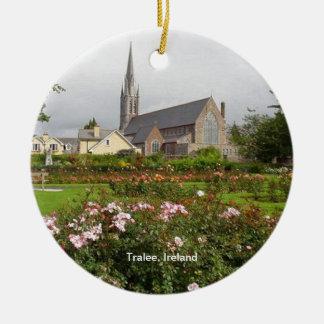 Tralee Irlanda, rosaleda, parque de la ciudad Adorno Redondo De Cerámica