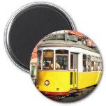 Tram 28, Lisbon, Portugal Imán Redondo 5 Cm