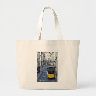 Tram 28, Lisbon, Portugal Large Tote Bag