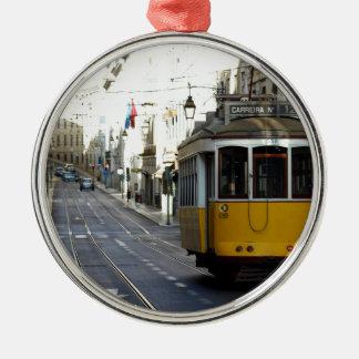 Tram 28, Lisbon, Portugal Metal Ornament