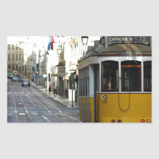 Tram 28, Lisbon, Portugal Rectangular Sticker