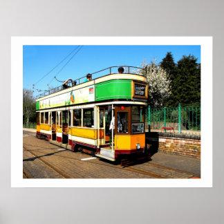 Tram at Colyton station Poster