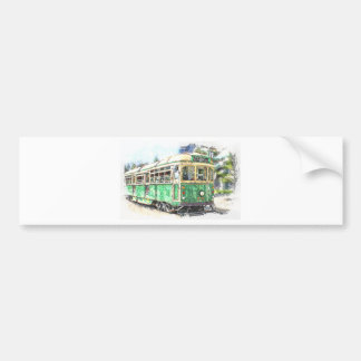 Tram Bumper Sticker