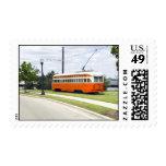 Tram Car Postage Stamp