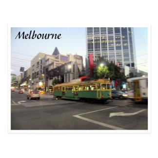 tram melbourne fast postcard