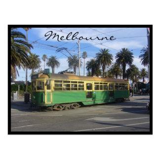 tram melbourne postcard