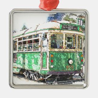 Tram Metal Ornament