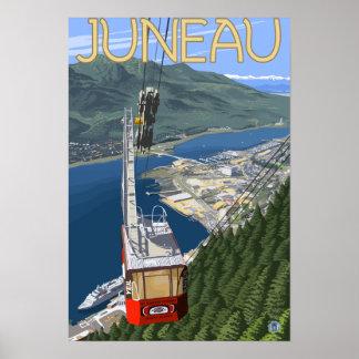 Tram over Juneau, Alaska Vintage Travel Poster