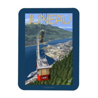 Tram over Juneau, Alaska Vintage Travel Poster Magnet