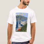 Tram over Juneau, Alaska Vintage Travel Poster T-Shirt