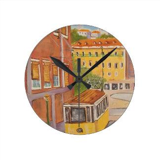 Tram Round Wall Clock