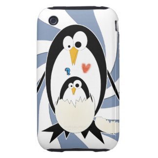 Trama del caso duro del iPhone 3G 3GS del pingüino iPhone 3 Tough Carcasa