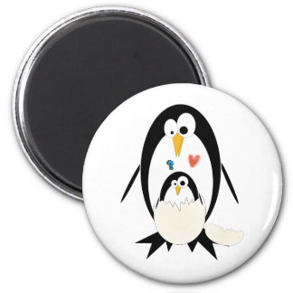 Trama del imán redondo del pingüino