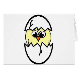Trama del pollo tarjeta de felicitación