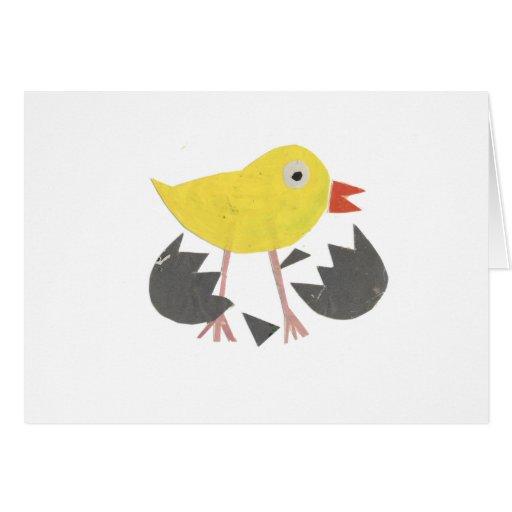 trama del polluelo felicitación