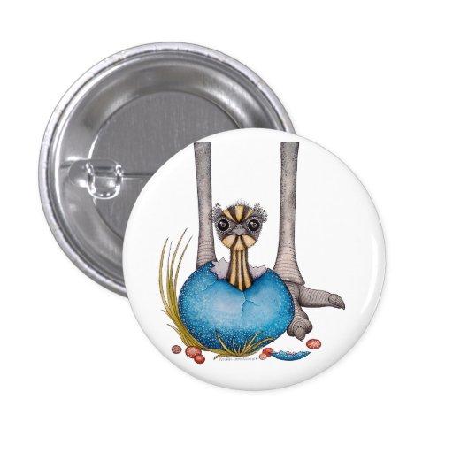 """Trame"" el emu del bebé Pin Redondo 2,5 Cm"