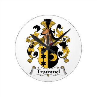 Trammel Family Crest Wall Clocks