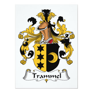 Trammel Family Crest Personalized Invite