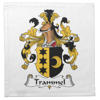 Trammel Family Crest Printed Napkin