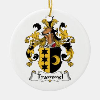 Trammel Family Crest Christmas Ornament