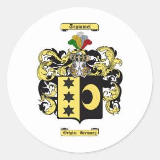 Trammell Classic Round Sticker